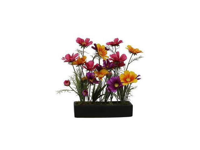 office floral arrangements tall vickerman 31776 wild coreopsis in black tray f12149 home office floral arrangements