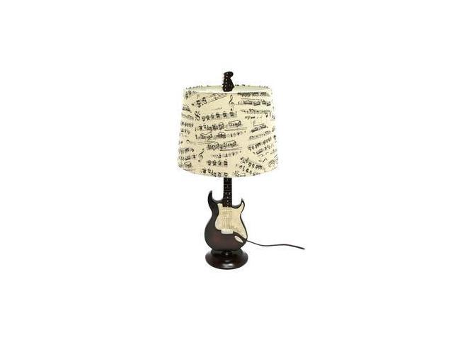 Creative motion 13491 1 light 245 guitar table lamp with fabric creative motion 13491 1 light 245 guitar table lamp with fabric music shade aloadofball Images