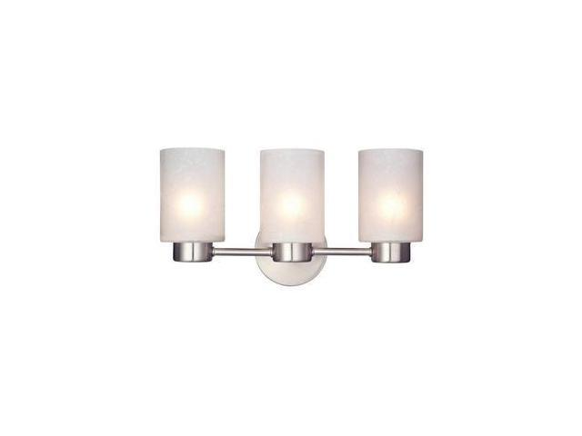 Westinghouse 62279 3 Light Medium Base 15 75 Sylvestre Brushed Nickel Finish With Frosted Seeded Glass Wall Fixture