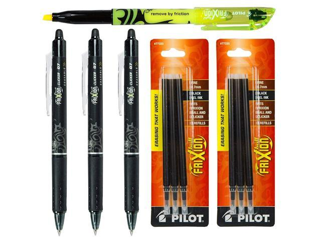 Pilot 31550 FriXion Erasable  Black Gel Ink Pen With 2 Pk of Refills Box of 12