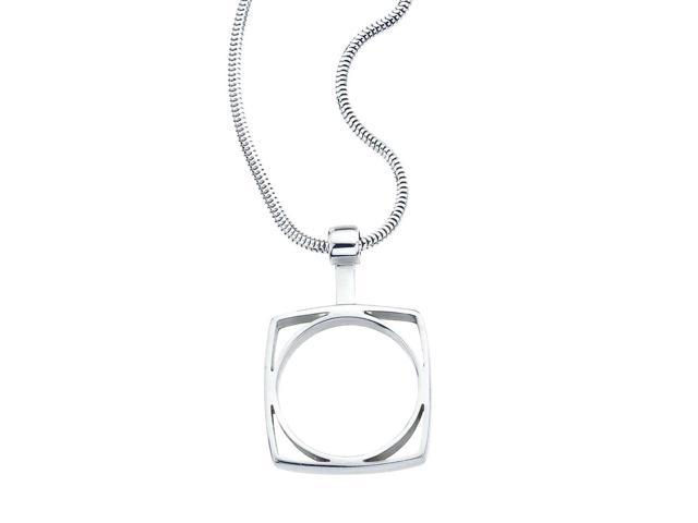 maureen lynch sterling silver small square circle pendant