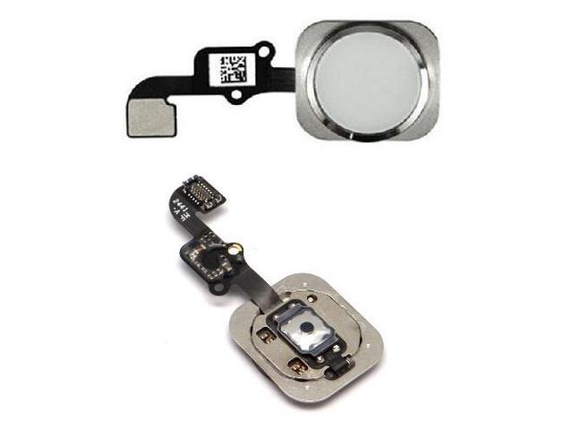 cheaper 91276 f080a Silver White Touch ID Home Key Button Flex Replacement For iPhone 6 and +  Plus - Newegg.com