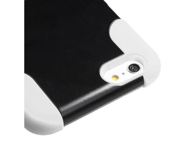 White/Black Inverse Advanced Armor Rugged Protector Case w/Stand for iPhone  6 Plus - Newegg com