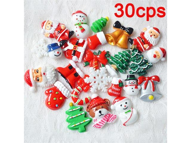 Christmas Shoes Diy.30pcs Christmas Tree Shoes Snowman Gift Dessert Cartoon Diy Resin Flatback Cabochon Lucky Bag Diy Phone Case Newegg Com