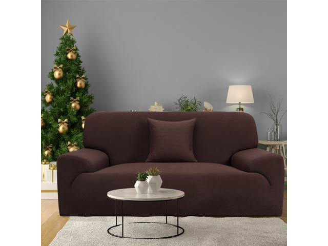 Remarkable Stretch Sofa Cover Loveseat Couch Slipcover Machine Washable Stylish Furniture Protector With One Cushion Case 3 Seater Chocolate Color Gmtry Best Dining Table And Chair Ideas Images Gmtryco