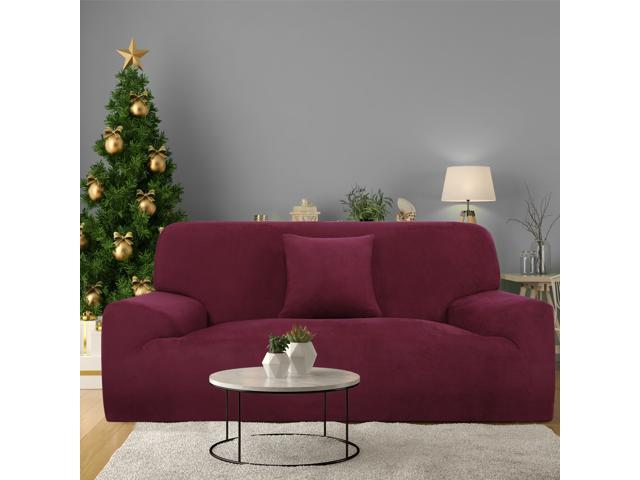 Velvet Plush Sofa Cover Loveseat Couch