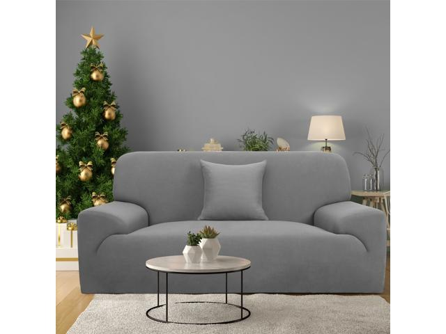 Wondrous Stretch Sofa Cover Loveseat Couch Slipcover Machine Washable Stylish Furniture Protector With One Cushion Case 2 Seater Gray Gmtry Best Dining Table And Chair Ideas Images Gmtryco