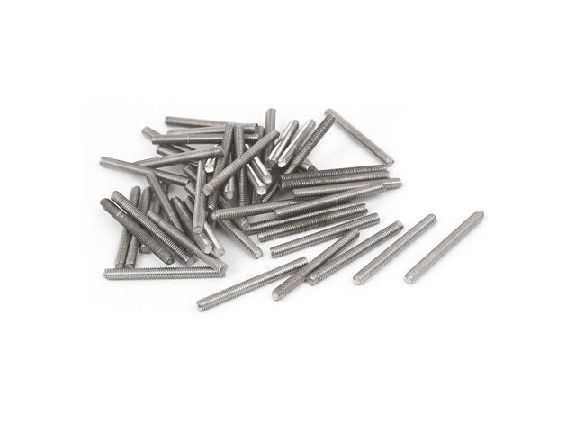 M3 x 25 mm Stainless Steel 304 Fully Threaded Bars Bar Stud Hardware 50 Pieces