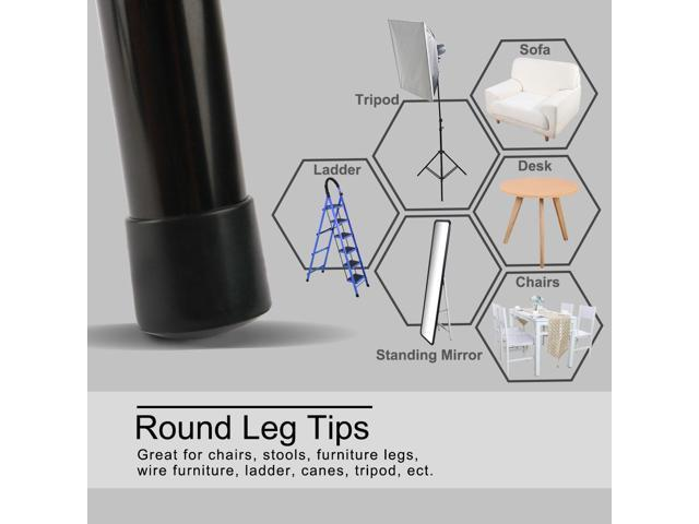 "16pcs PVC Leg Cap Tips Cup Feet Covers 13mm 0.51/"" Inner Dia for Folding Chairs"