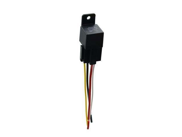 5pcs DC 36V 40A SPST Relay 4 Pin 4 Wires w// Harness Socket for Automobile