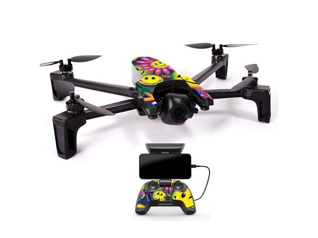 MightySkins Skin Compatible with Parrot Anafi Drone - Peace Smile |  Protective, Durable, and Unique Vinyl Decal wrap Cover | Easy to Apply,  Remove,