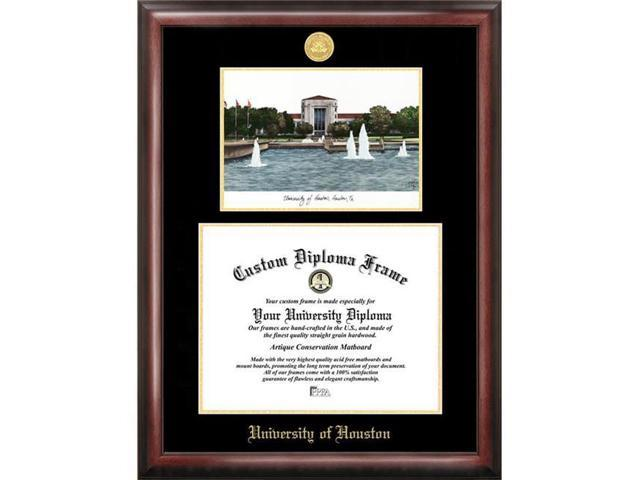 Campus Images University Of Houston Gold Embossed Diploma Frame ...