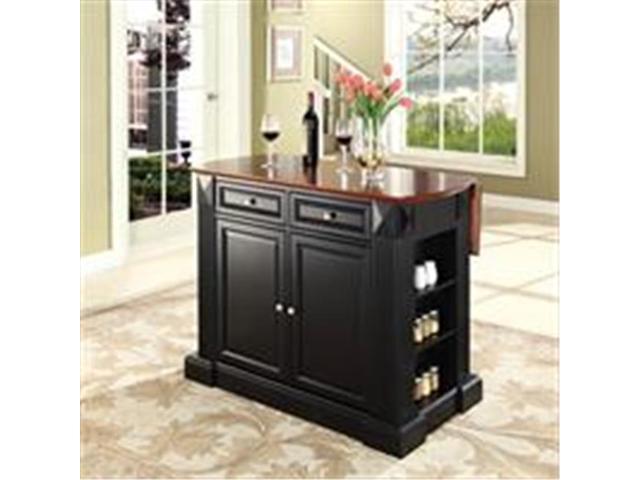 Crosley Furniture KF30007BK Drop Leaf Breakfast Bar Top