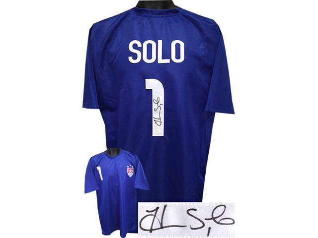 26c19792896 Hope Solo signed Soccer Blue Prostyle Jersey W  Team USA Patch  1 XL (