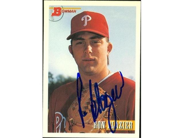 Autograph Warehouse 45327 Ron Blazer Autographed Baseball Card Philadelphia Phillies 1993 Bowman No 244 Neweggcom