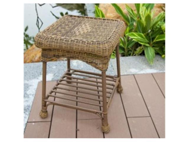 Stupendous Wicker Lane Oti001 C Outdoor Honey Wicker Patio Furniture End Table Alphanode Cool Chair Designs And Ideas Alphanodeonline