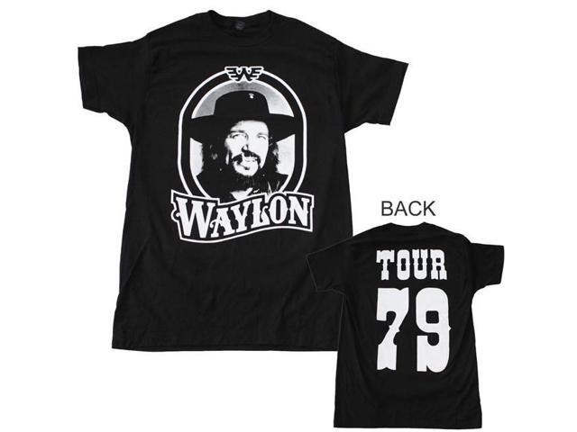 Waylon Jennings Head Shot Men/'s Tee Shirt Black