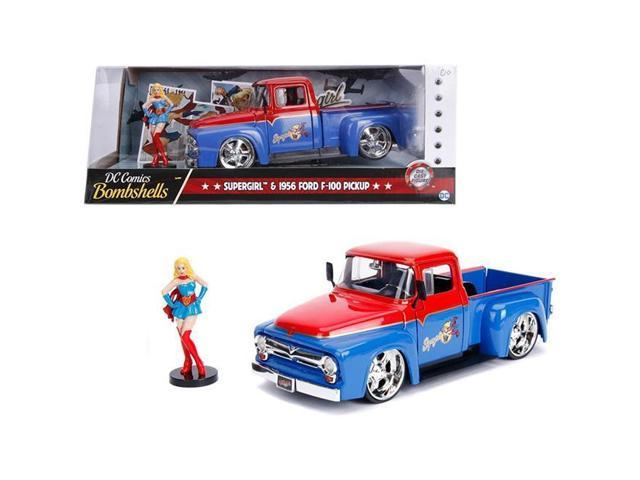 1955 Ford F-100 Pickup Truck Die-cast 1:24 by Motormax 8 inches Yellow 1956