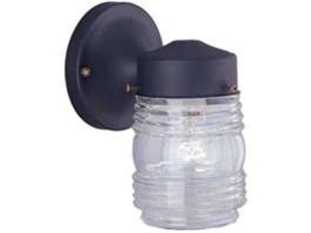 Boston Harbor W15bk01 33883l Single Light Outdoor Wall Mount Jelly Jar Fixture Newegg Com