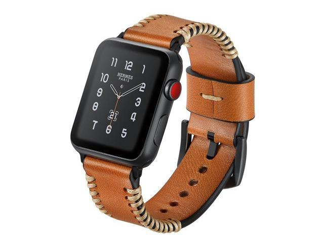 b7669a9f609b2 Miga for Apple Watch Band 38/42mm Leather Handmade Premium Vintage Replacement  Watch Bands with