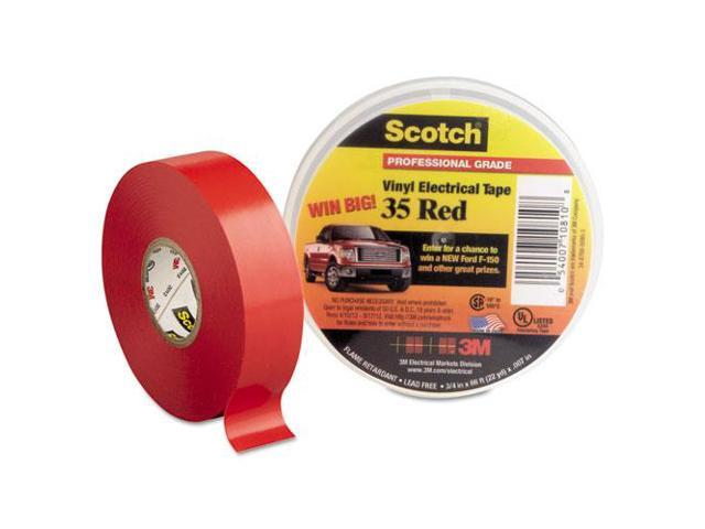 Scotch 35 Vinyl Electrical Color Coding Tape Sold as 1 Roll White 3//4 x 66ft