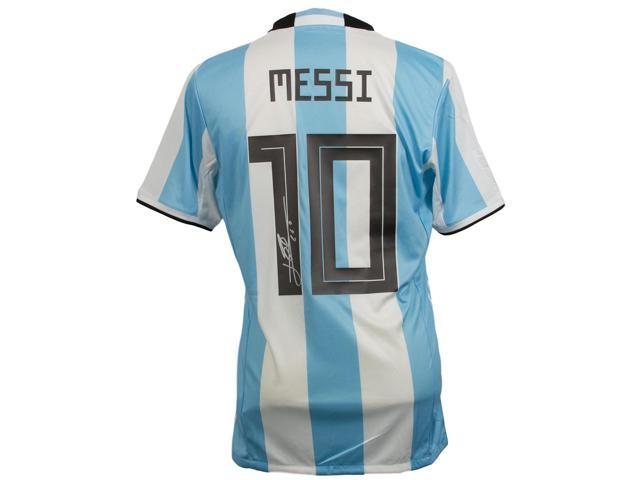 newest collection 0b6a5 c96b0 Lionel Messi Signed Adidas Argentina Home Large Soccer Jersey Messi COA -  Newegg.com