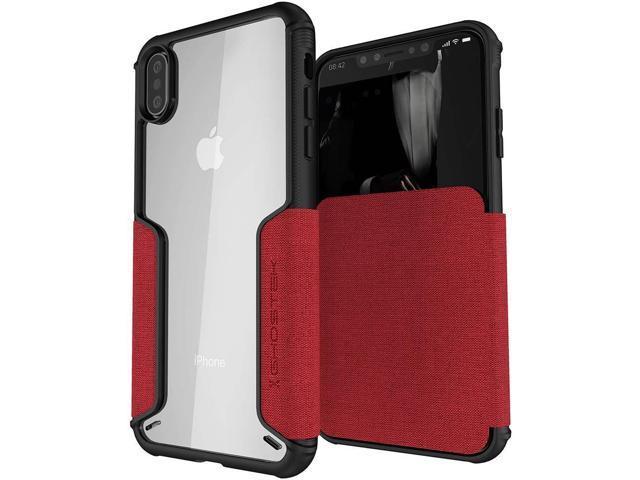 iphone xs flip case red