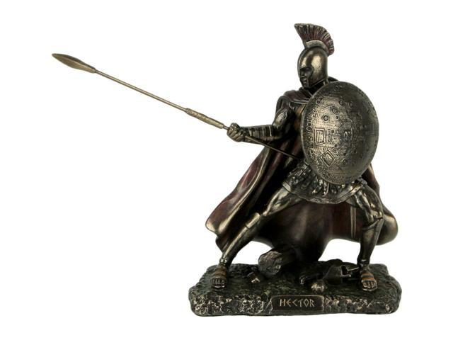 Hector Trojan Prince Warrior of Troy Holding Spear and Shield Statue -  Newegg com