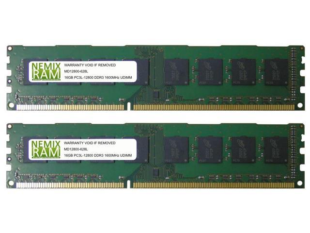 NEMIX RAM 16GB DDR3L-1600 2Rx8 UDIMM Memory for SUPERMICRO Motherboards 2 X 8GB