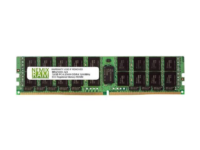 32GB DDR4-2666 PC4-21300 RDIMM Memory for Supermicro H11SSL-i AMD EPYC by Nemix Ram