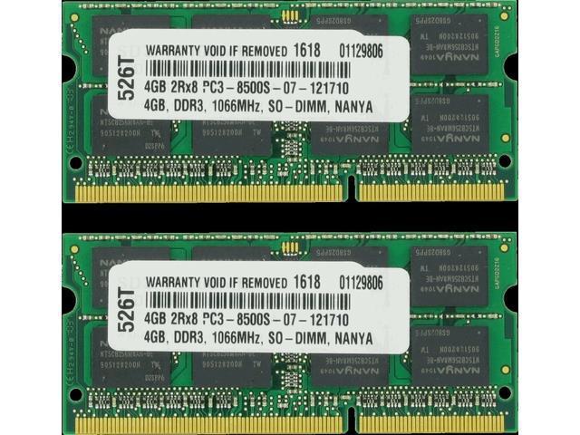 8GB 2x 4GB Memory for Lenovo Notebook DDR3 PC3-8500 1066MHz RAM
