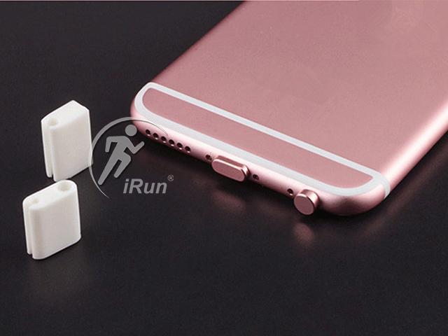 promo code 53bf8 1f886 [Rose Gold] Metal Aluminum Skin Hard Earphone Jack & Charger Port Anti Dust  Plug Cap + Storage, for iPhone 5/5S,iPhone 6,iPhone 6S,iPhone 6 ...