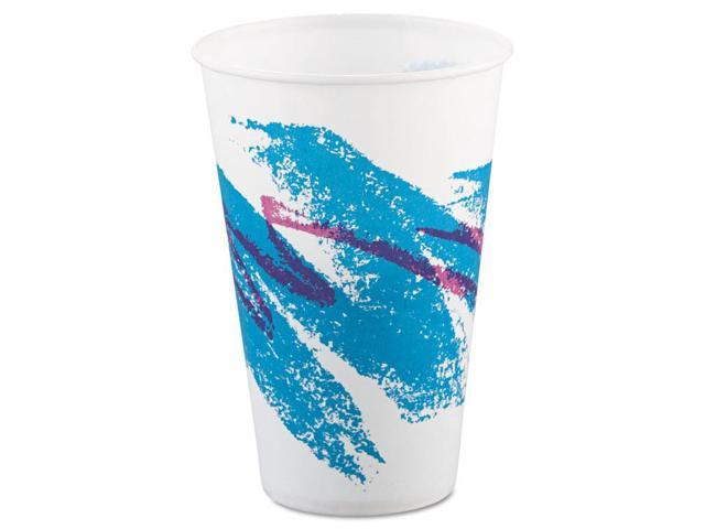 Solo Cup R12N J8000 Symphony Treated Paper Cold Cups, 12oz, WhiteBeigeRed, 100Bag, 20 BagsCarton