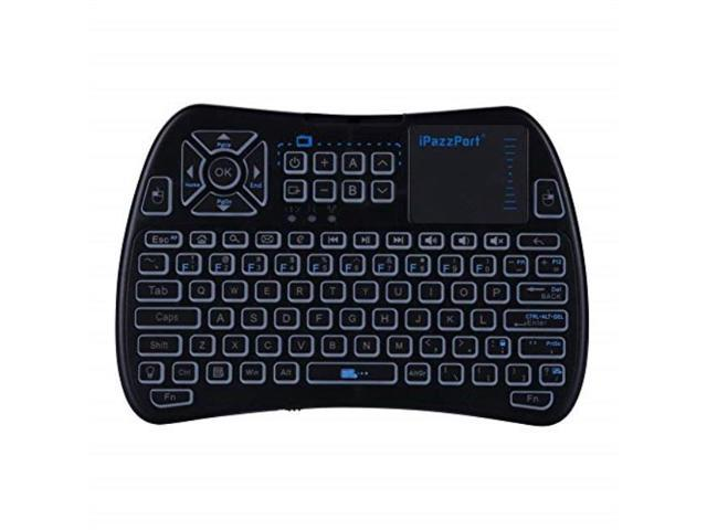 0267a8e230b ipazzport 2.4ghz rgb backlit mini wireless keyboard with touchpad mouse and  ir learning tv remote