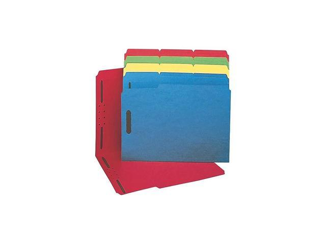 Staples Colored Reinforced Tab Fastener Folders Letter Size Yellow 50//Box 807793