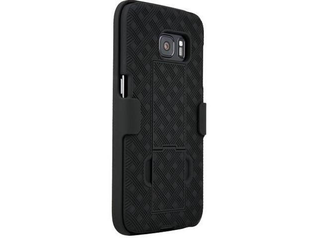 new arrival cdb5a 07dcd Verizon Shell Holster Case Combo with Kickstand for Samsung Galaxy S7 -  Black - Newegg.com