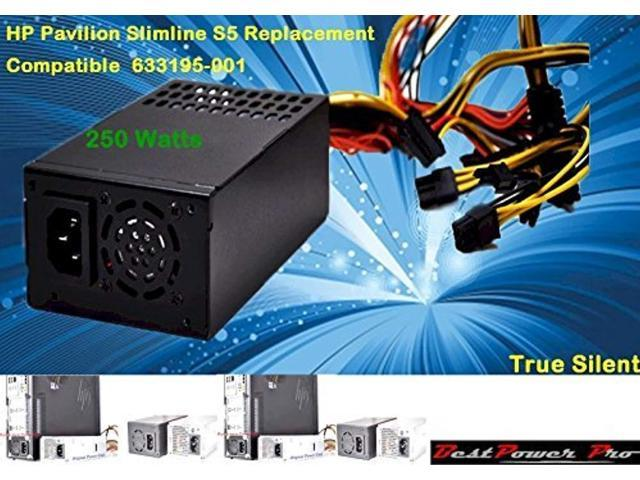 250w upgrade for hp slimline s5 series system compatible 633195-001 power  supply! please watch our video(hp slimeline s5 instal - Newegg com
