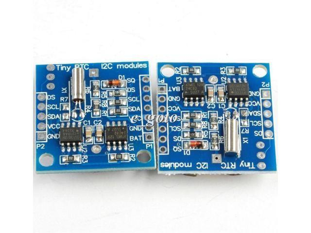 2pcs 1PCS AT24C32 Tiny Real Time Clock Module I2C RTC DS1307 Board for Arduino AVR PIC