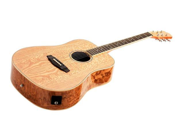 Monoprice Acoustic Guitar - Quilted Ash With Fishman Pickup Tuner and Gig  Bag - Idyllwild - Newegg ca