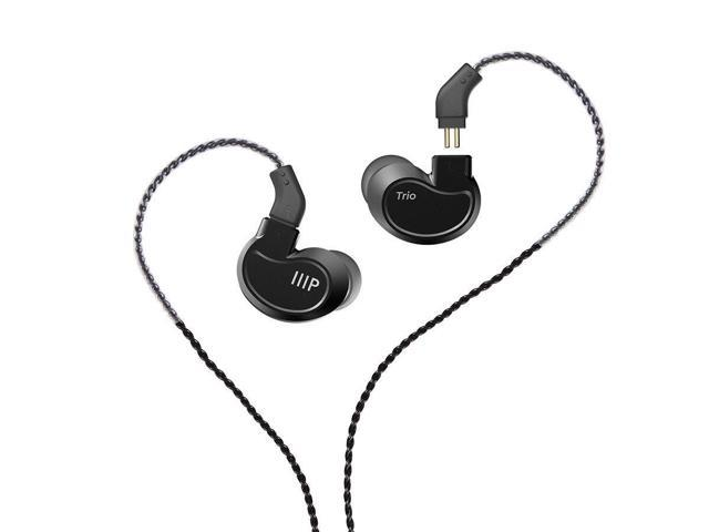 Monoprice Trio Wired In Ear Monitor (1 Balanced Armature+2 Dynamic Drivers)  Aluminum Housing, Detachable Cable - Newegg com