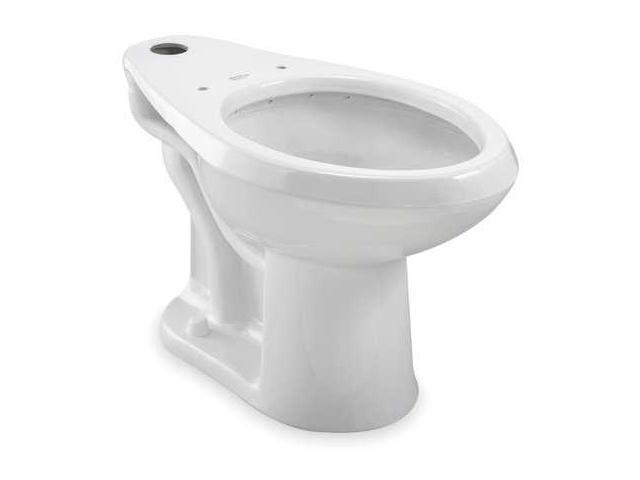 AMERICAN STANDARD 3461001.020 Toilet Bowl, Floor, Elongated, 161/2 ...