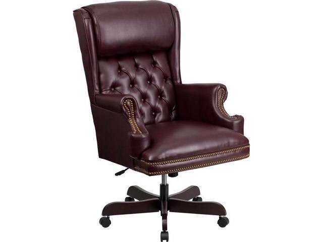 Burgundy Leather Executive Office