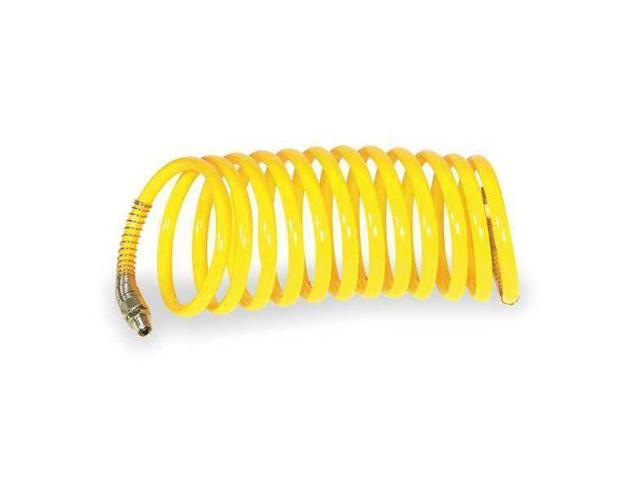 """SPEEDAIRE 4XR49 1//4/"""" x 50 ft Nitrile Coupled Multipurpose Air Hose 300 psi YL"""