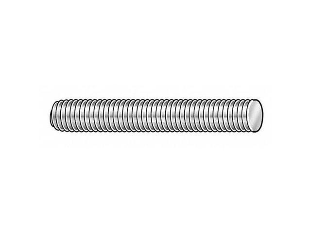 "Fabory U20200.100.2400 1/""-8 X 2/' Plain Low Carbon Steel Threaded Rod"