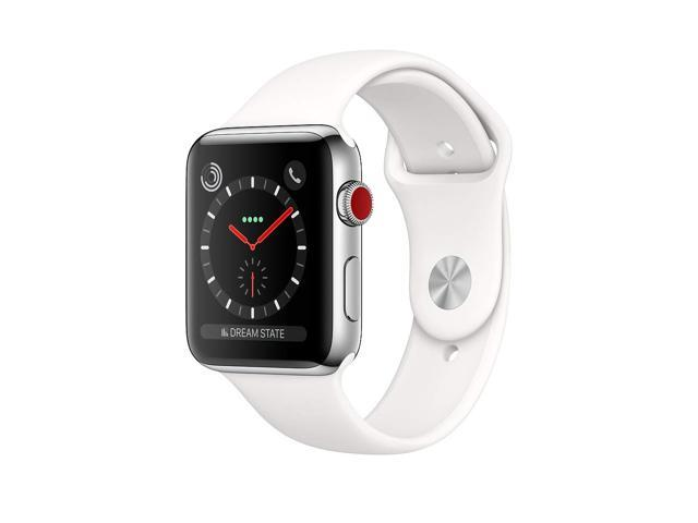 promo code c2b10 92d40 Refurbished: Apple Watch Series 3, 42MM, GPS + Cellular, Stainless Steel  Case, Soft White Sport Band (Renewed) - Newegg.com