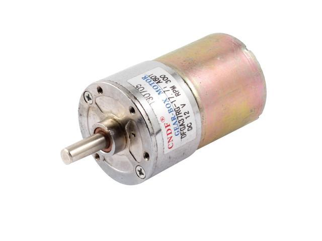 Global Bargains Electric Parts 58mm Cylindrical Body 300RPM Geared Gear Box  Motor DC 12V - Newegg com