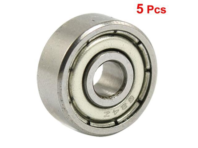 5 Pcs 8 x 12 x 3.5mm MR1280Z Double Shielded Deep Groove Ball Bearings