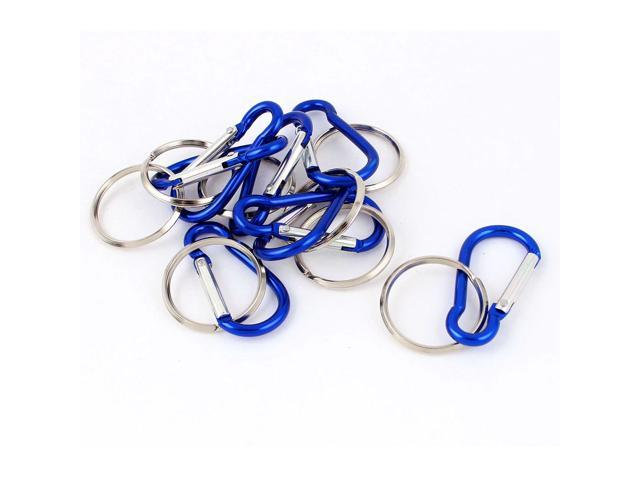 Global Bargains 8pcs Camping Spring Ring Clip Keychain