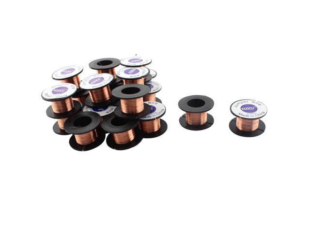 0.1mm Dia Jewelery Scrap Repair Enamelled Soldering Solder Wire Reel 25pcs
