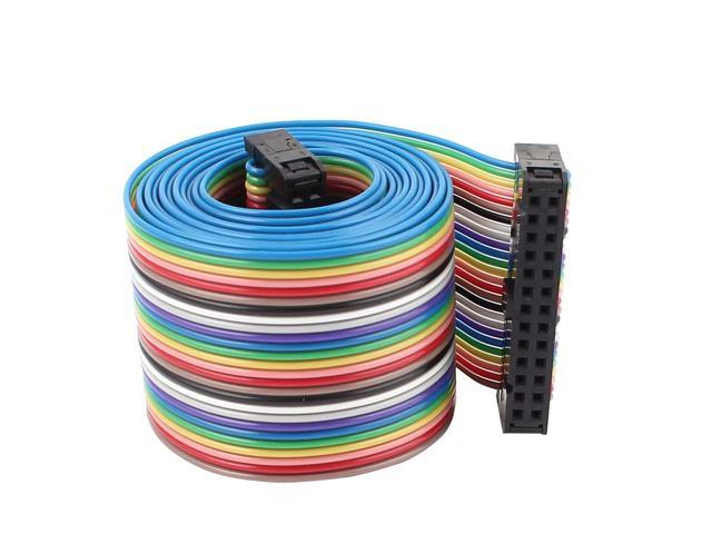 53c3e666d812 2.54mm Pitch 26 Pin 26 Way F F Rainbow IDC Flat Ribbon Cable Connector 118cm